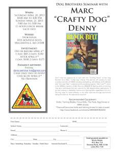 Dog Brothers Seminar Flyer